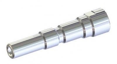 Ниппель KW нерж. сталь - выход 1/4 внутр. резьба